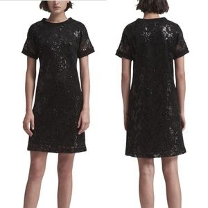 DKNY Bold Blooms Sequined Shift Party Dress